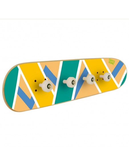 Skateboard coat rack Olliepops, Acid - Skateboard decoration for teen room