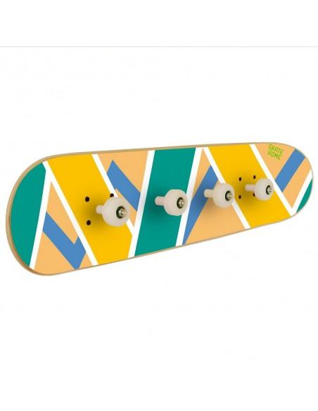 Skateboard porte-manteau Olliepops, Acid - Skateboard décoration pour chambre d'ado