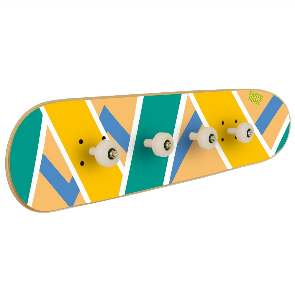 skateboard décoration pour chambre d'ado - skateboard porte-manteau