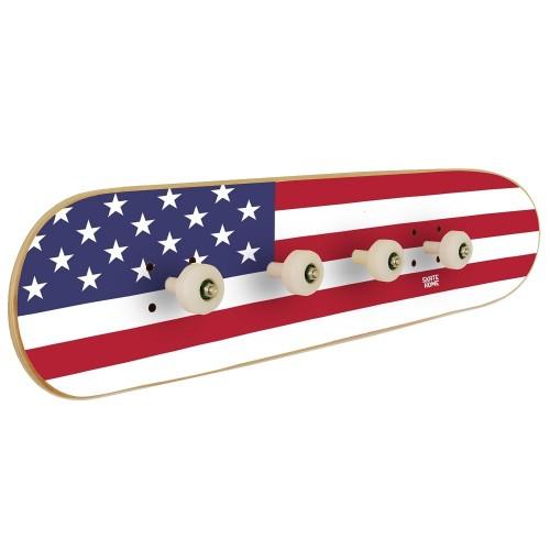 Porte-manteau Skate avec le drapeau des États-Unis