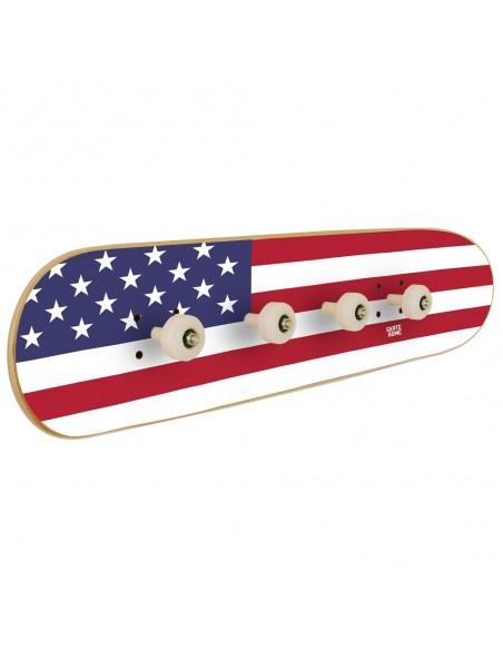 Flagge USA Skateboard Garderobenleisten