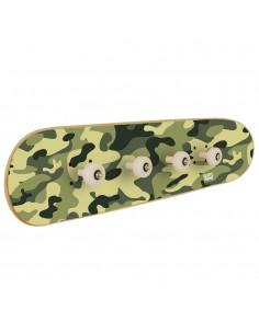 Skateboard Garderobe in Camouflage, original Möbel für skater Kinder