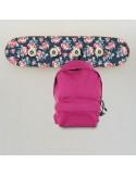 Skateboard Wall Coat Rack - Small Roses