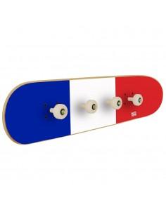 Bandera de Francia en perchero skate para la decoración de una habitación deportiva