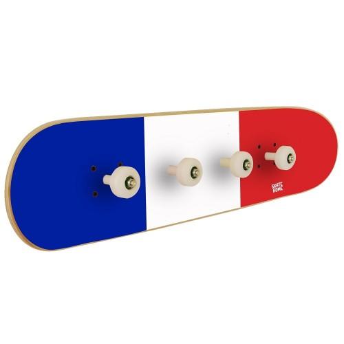 France flag on skate rack for decoration of a sports room