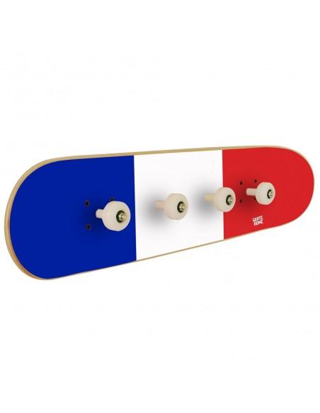 Skateboard Coat Rack France Flag