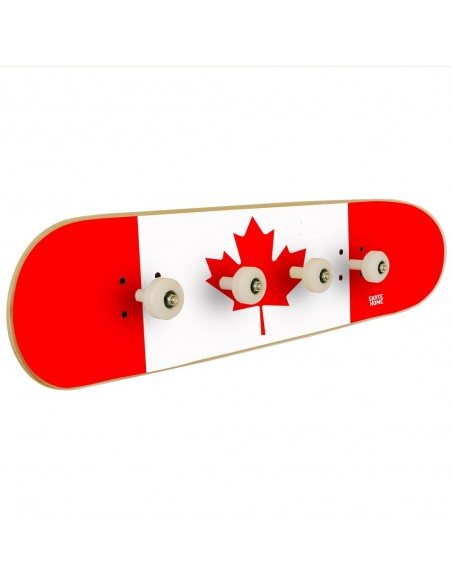 Skateboard Wandgarderobe Kanada Flagge