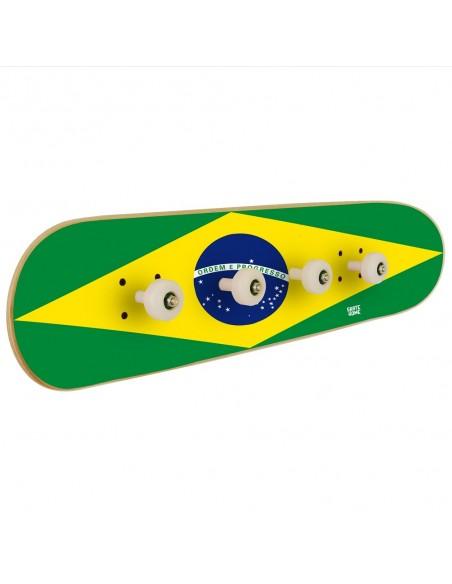 Bandera Brasil Skateboard Perchero