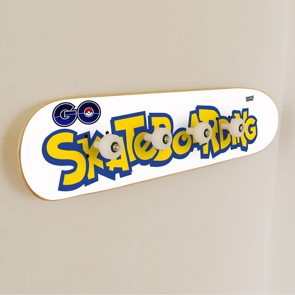 pokemon go skateboarding skateboard porte manteau. Black Bedroom Furniture Sets. Home Design Ideas