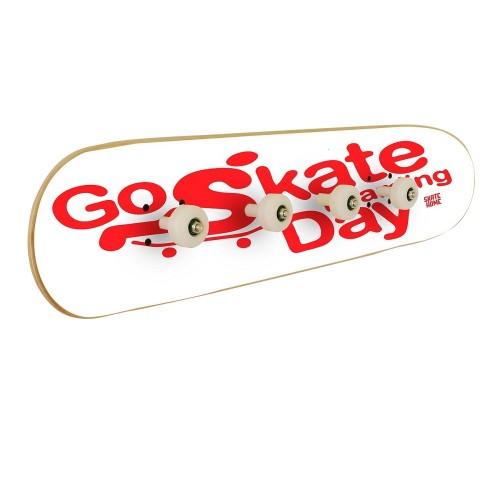 Go Skateboarding Day, Wall coat rack White