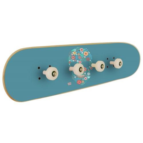 Skateboard coat rack for backpacks perfect gift for skateboarders