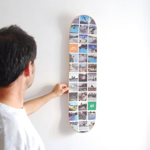 Transformez vos photos Instagram préférées en skateboard