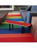 Taburete o mesa auxiliar decoración casa skaters, regalo para triunfar