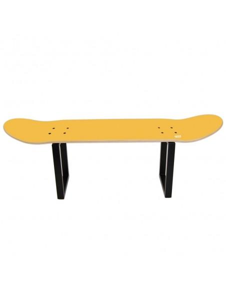 Skateboard Hocker No Comply - Gelbe