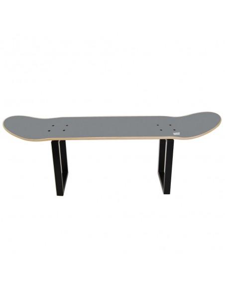 Skateboard Hocker No Comply - Grau
