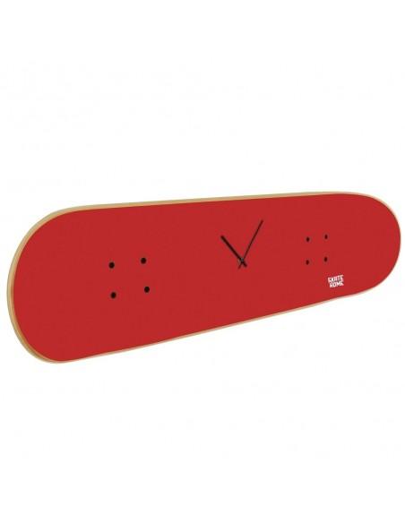 Skateboard Horloge murale, Rouge