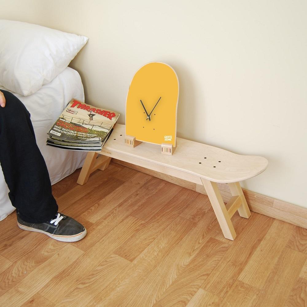 Reloj de mesa sobre tabla de skate para habitaci n skater for Mesas de habitacion