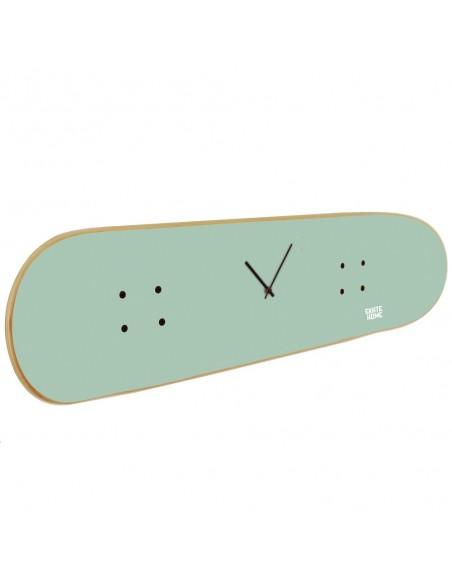 Skateboard Wall Clock - Mint