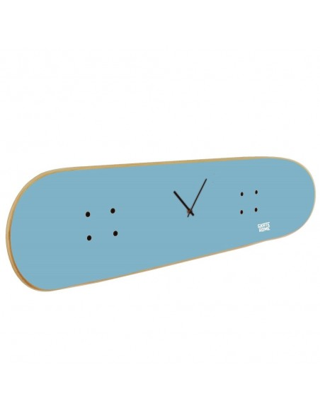 Skateboard Wanduhr - Blauer Himmel