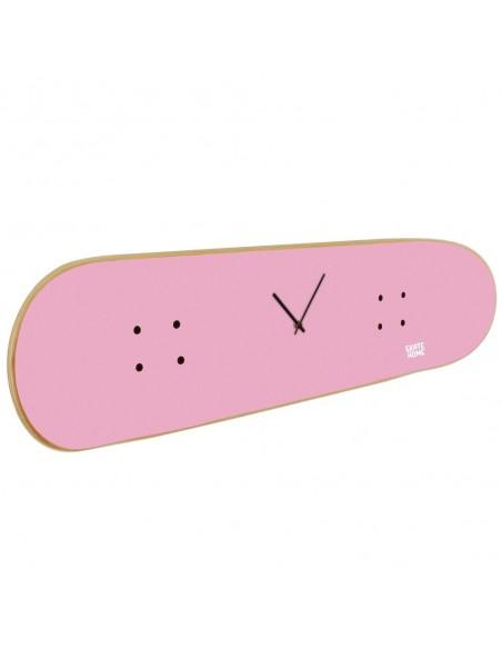 Skateboard Horloge murale - Rose