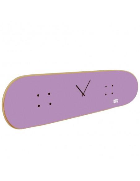 Skateboard Clock - Purple