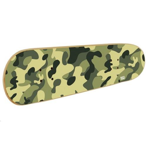 Skateboard Wandkunst in Camouflage