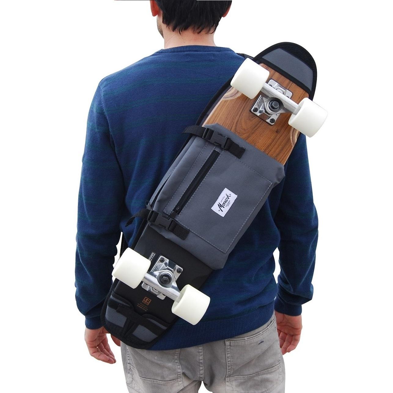 sac dos skate cruiser 26 et 27 gris skate home skateboard furniture design. Black Bedroom Furniture Sets. Home Design Ideas