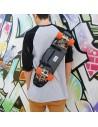 """Skateboard Backpack Mini Cruiser 22"""" and 23"""" - Grey"""