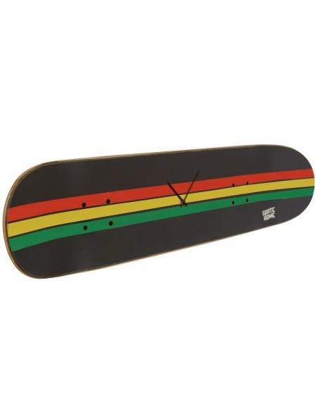 Skateboard Uhr - Rasta Linien