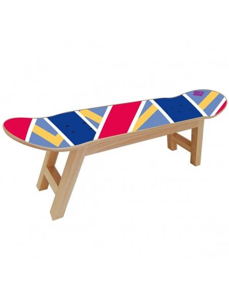 Skateboard Tabouret Olliepops -Bleu et Rouge - Cadeau pour un ami skater