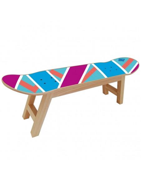 Skateboard Taburete Olliepops - Azul y morado - Perfecto para la casa de un skater