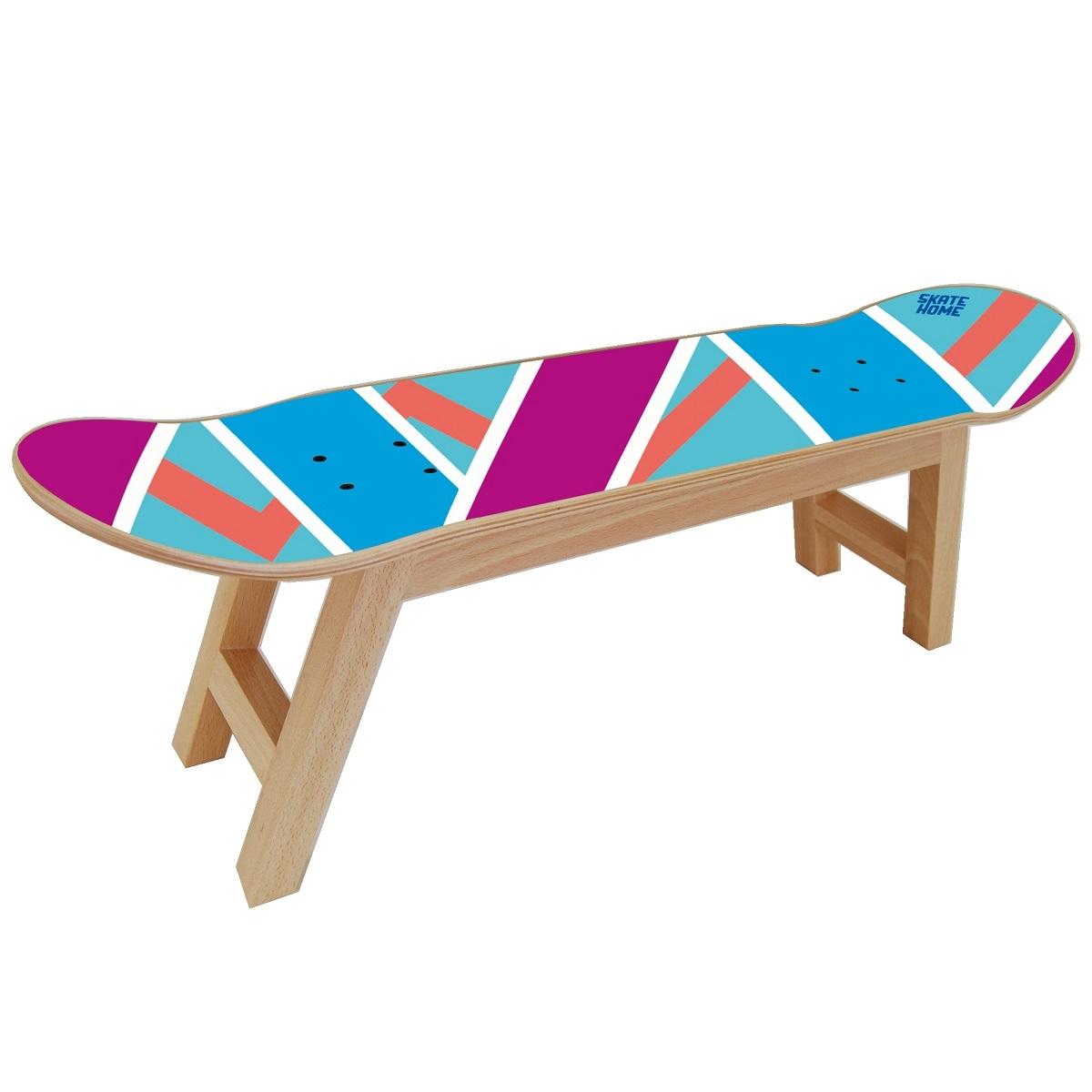 Taburete Casa.Skateboard Taburete Olliepops Azul Y Morado Perfecto Para La Casa De Un Skater