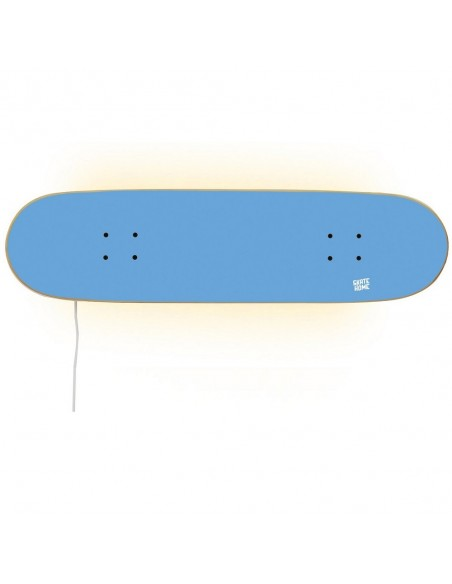 Skateboard lampe, Blau