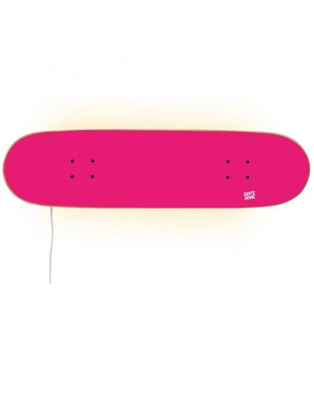 Skateboard Lamp, Bright Pink