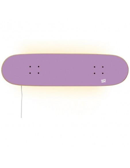 Skateboard lampe, Lila