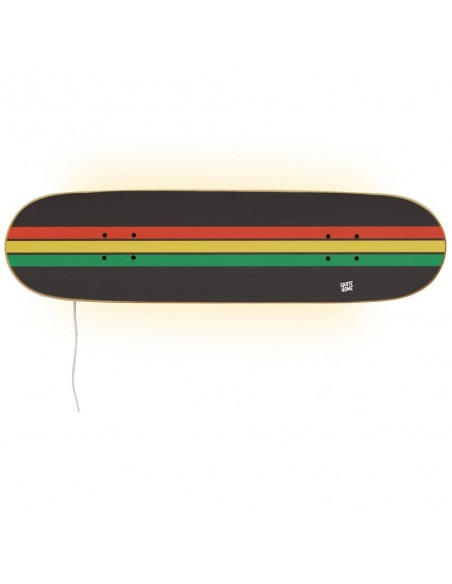 Skateboard Lamp - Rasta Series