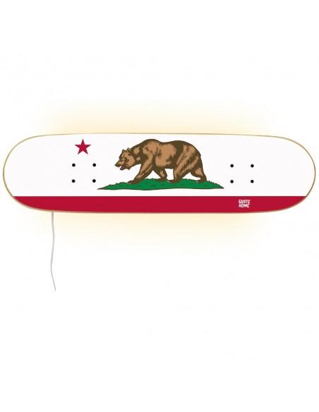 Skateboard lampe, California Flagge