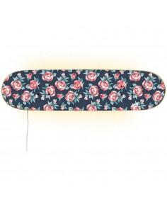 Lámpara skate de rosas pequeñas para el regalo de una chica skater