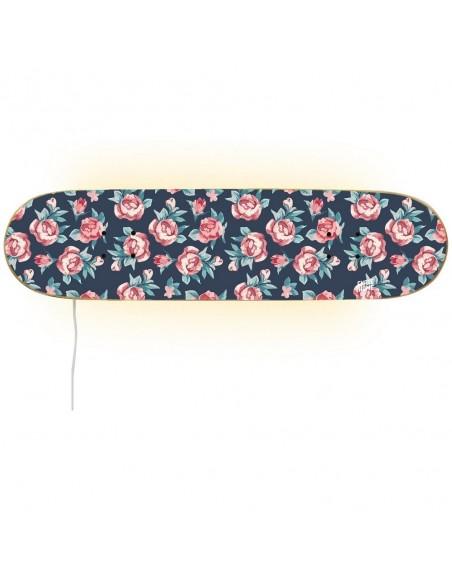 Skateboard Lampe - kleine Rosen