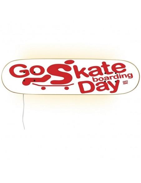 Go Skateboarding Day, lámpara Blanco