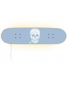 Skateboard Lámpara - Floral Skull para una decoración skater.
