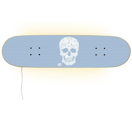 Skateboard Lamp - Floral Skull for a skater decoration.
