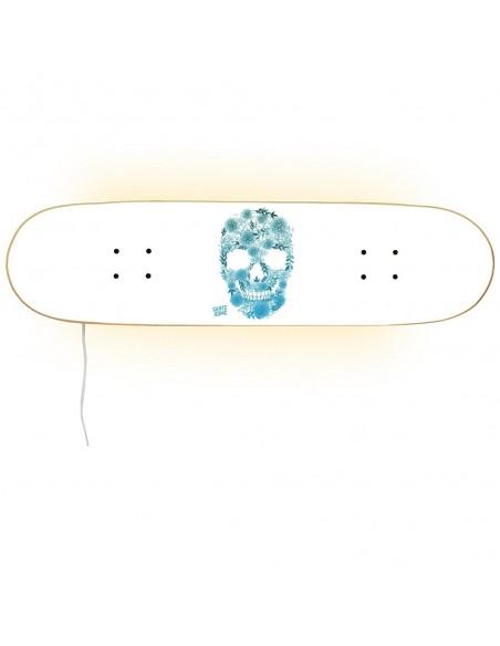 Skateboard Lampe Casper - White Skull