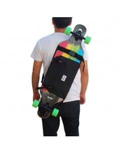 Longboard Rucksack - schwarz