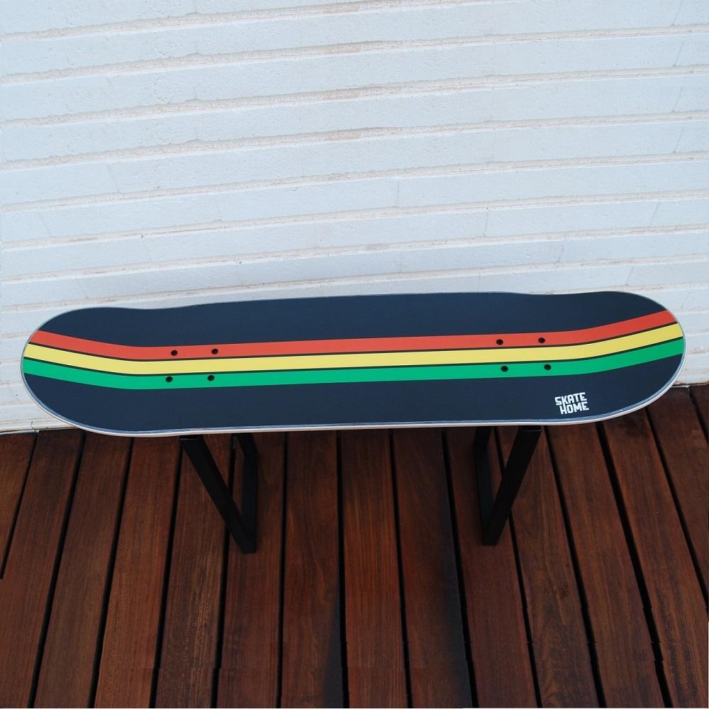 Skateboard Hocker Geschenkidee Dekoration Reggae