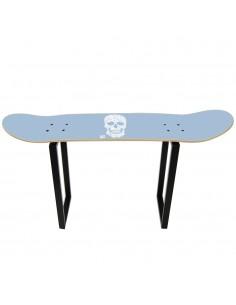 Tabouret haut avec skateboard et design crâne floral