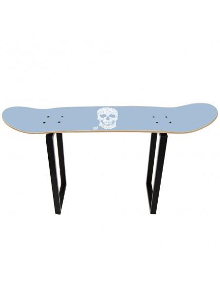 High skate stool, Floral Skull