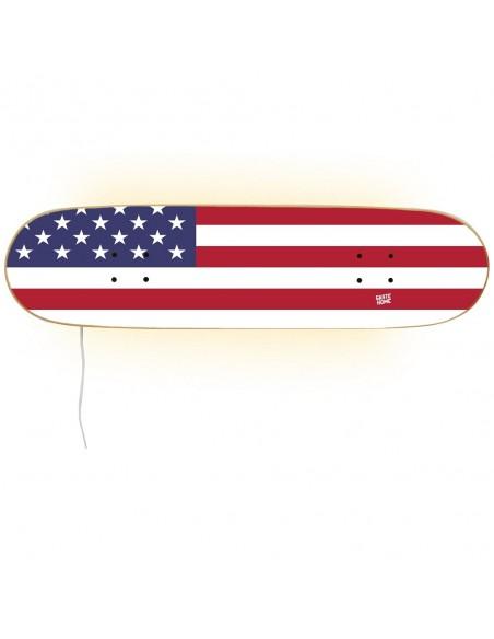 Lámpara monopatín - Bandera Estados Unidos
