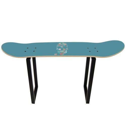 Skateboard Tabouret Shove It - Flower Skull