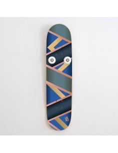 Vertical Skateboard Coat Rack Hanplant, Gold
